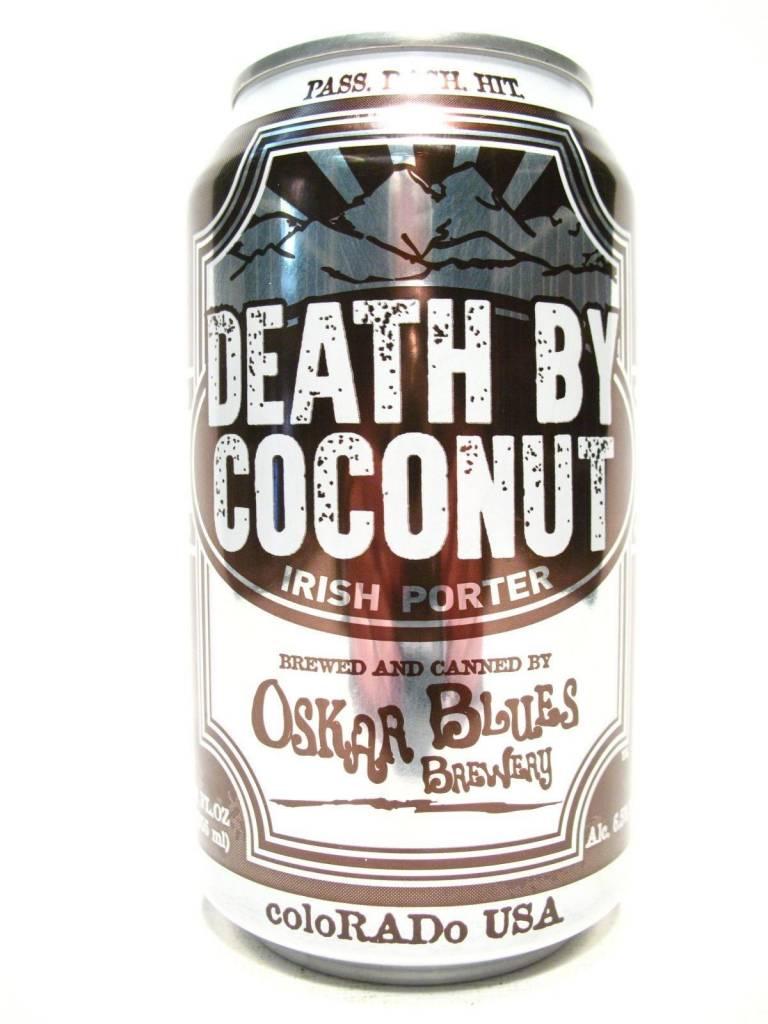 Oskar Blues Brewery Death by Coconut ABV: 6.5%  6 Pack