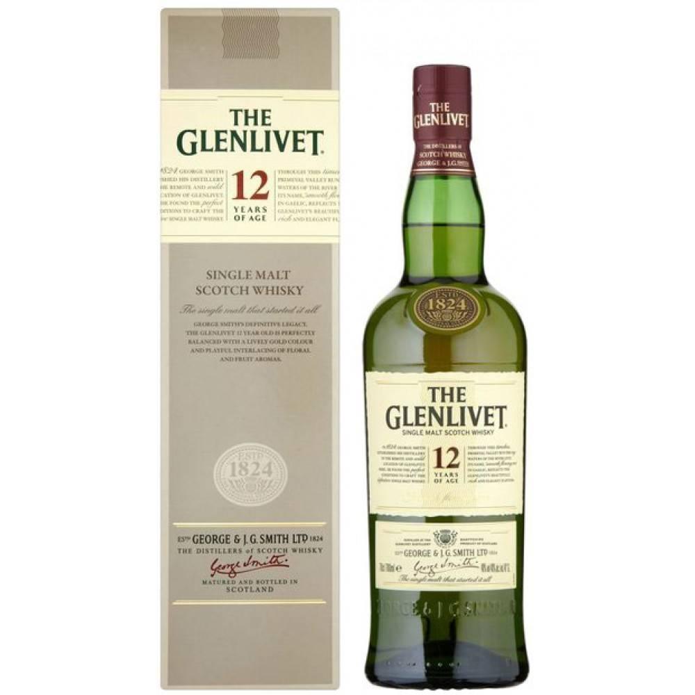 e991813bab3 Glenlivet 12 Years Single Malt Scotch Whisky Proof  80 750 mL - Cheers On  Demand