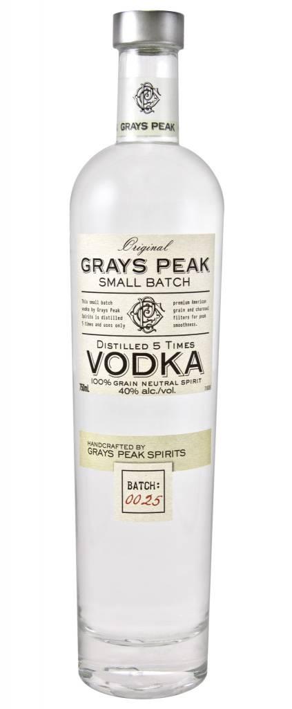 Grays Peak Vodka Proof: 80  750 ML