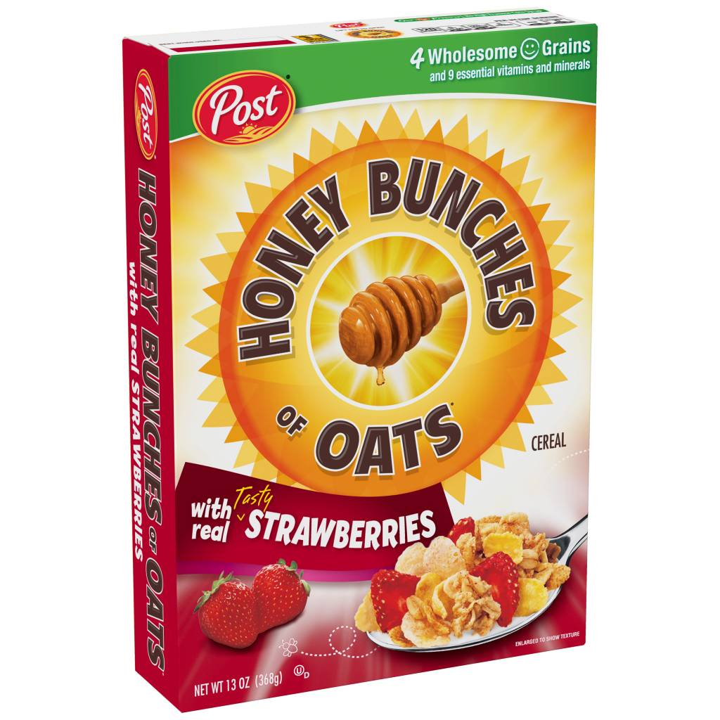 Honey Bunches of Oats with Real Tasty Strawberry Cereal