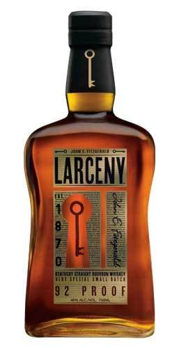 John Fitzgerald Larceny Small Batch Kentucky Straight Bourbon Whiskey Proof: 92%  750 ml