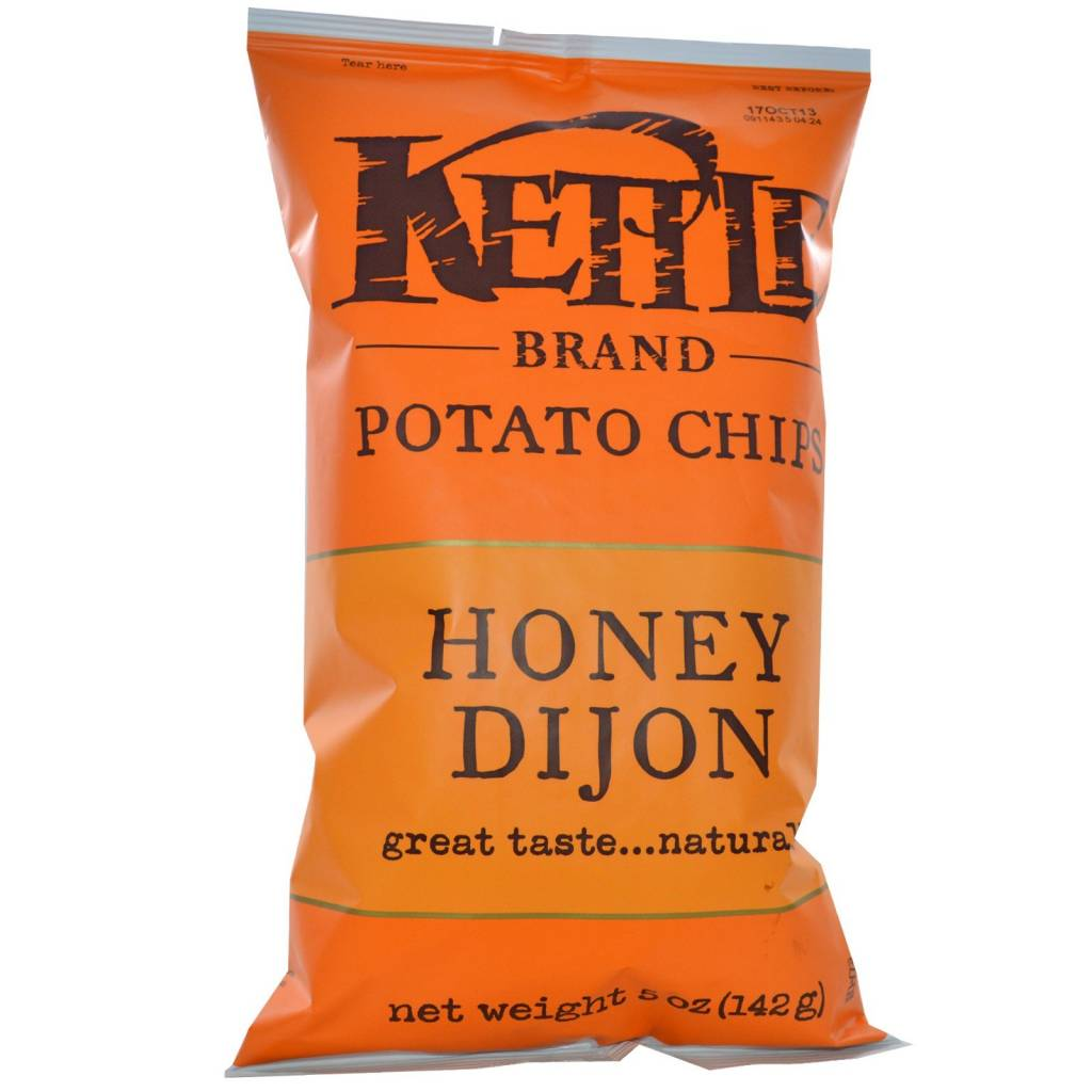 Kettle Brand Potato Chips Honey Dijon 5 OZ