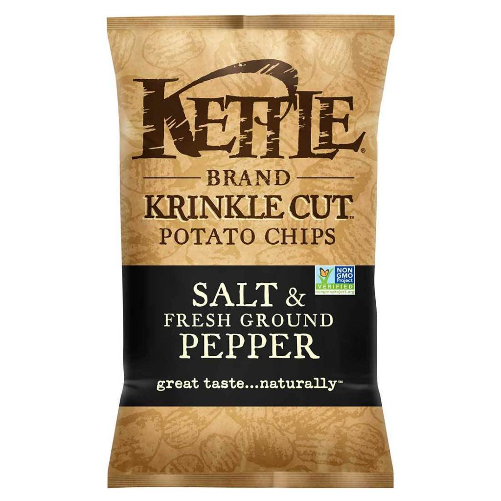 Kettle Brand Potato Chips Salt & Pepper 2 oz