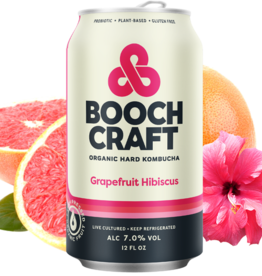 Boochcraft Kombucha Grapefruit Hibiscuc  ABV 7% 6 Pack