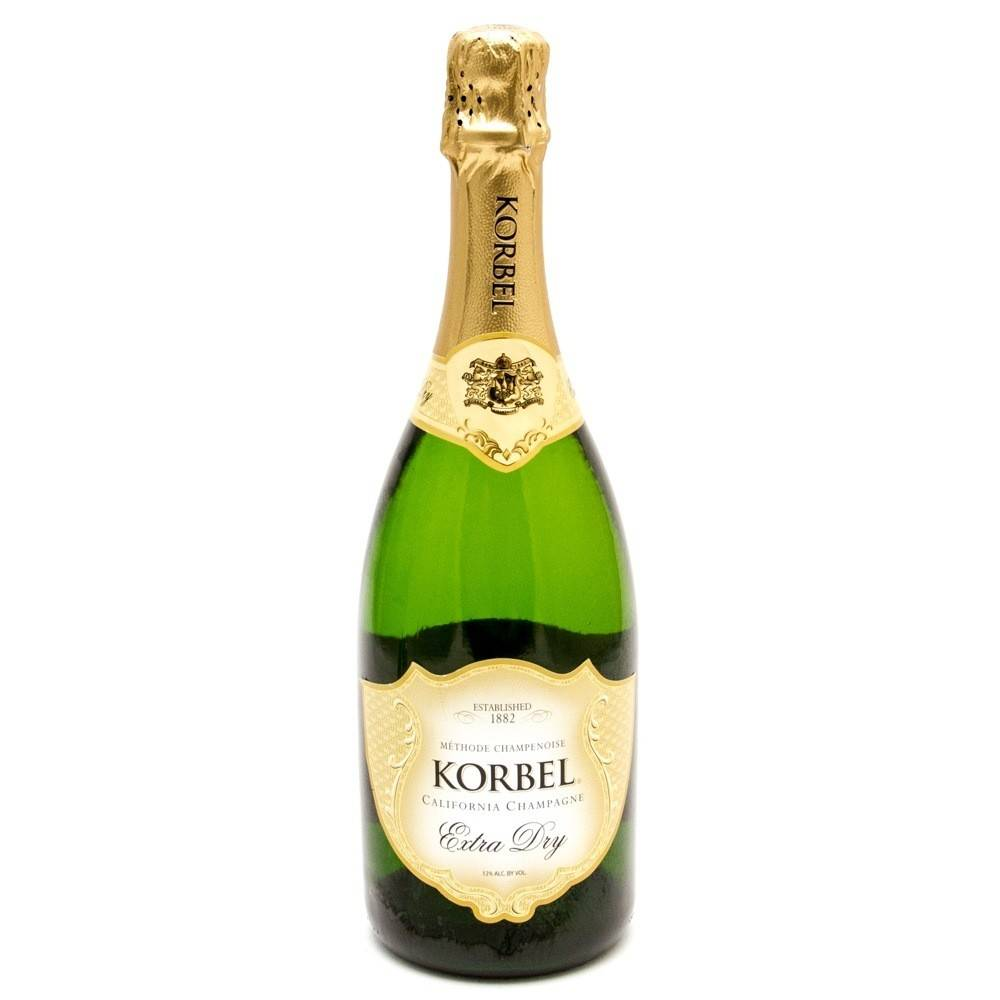 Korbel Extra Dry Champagne ABV: 12%  750 mL