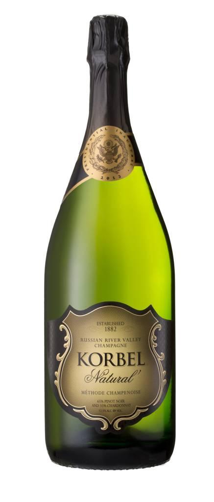 Korbel Natural Champagne ABV: 12.2%  750 mL