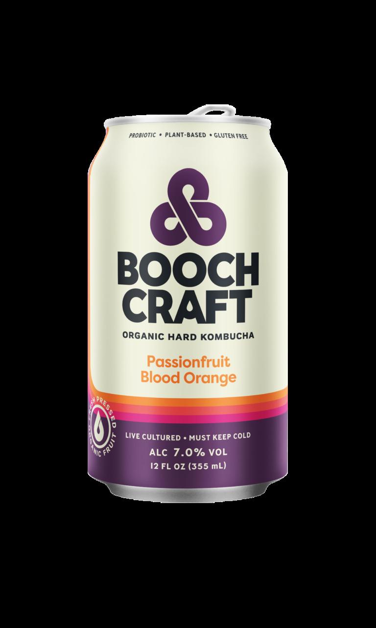 Boochcraft Kombucha Passionfrut Blood Orange ABV 7% 6 Pack