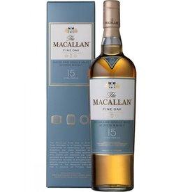 The Macallan Single Malt Scotch Whisky 15 Years Old Fine Oak Proof: 80  750 mL