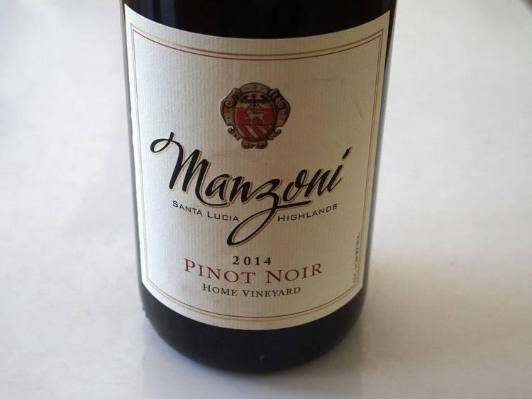 Manzoni Pinot Noir ABV: 14.6%  750ml
