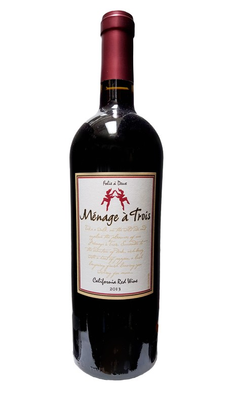 Menage a Trois Red Blend 2016 ABV: 13.5%  750 mL