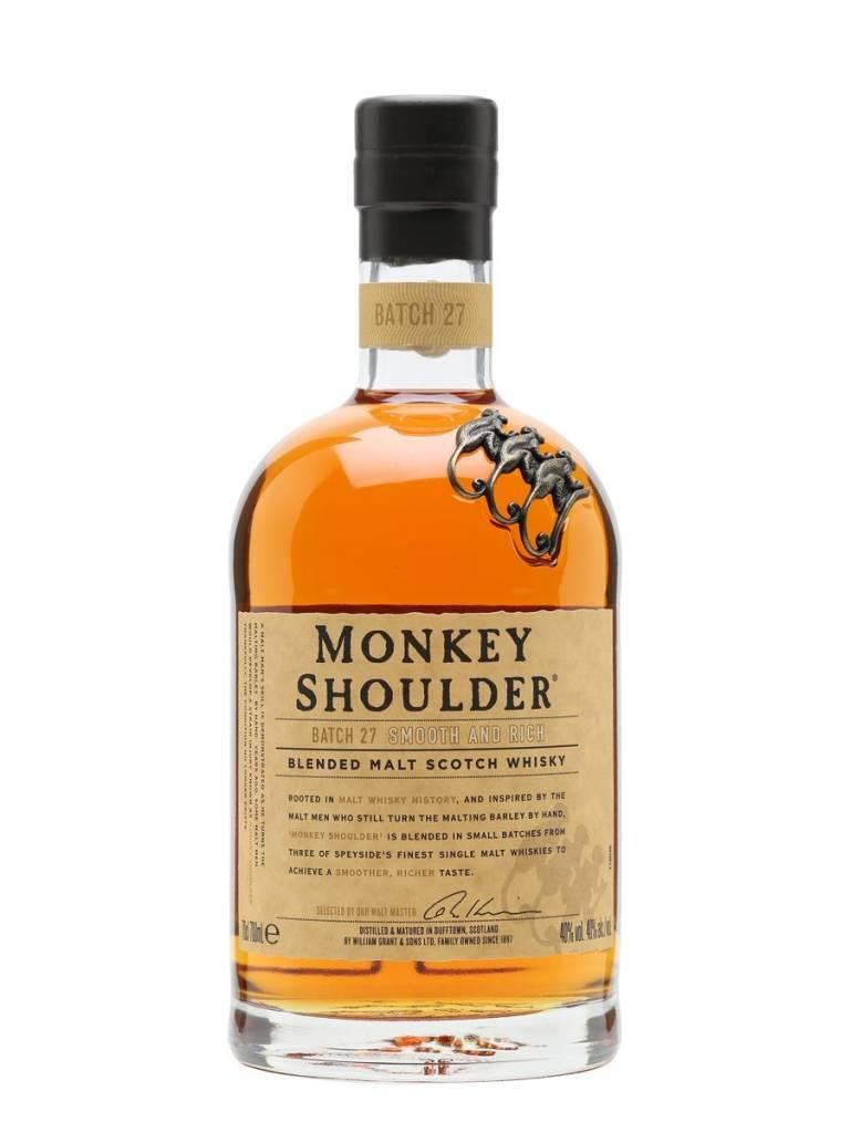 Monkey Shoulder Blended Scotch Malt Whisky Proof: 87  750 mL