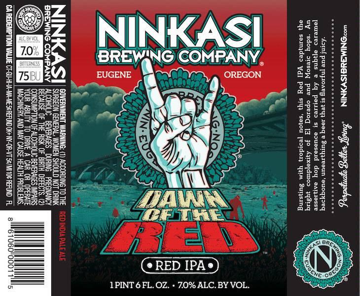 Ninkasi Brewing Co. Dawn of the Red IPA ABV: 7%
