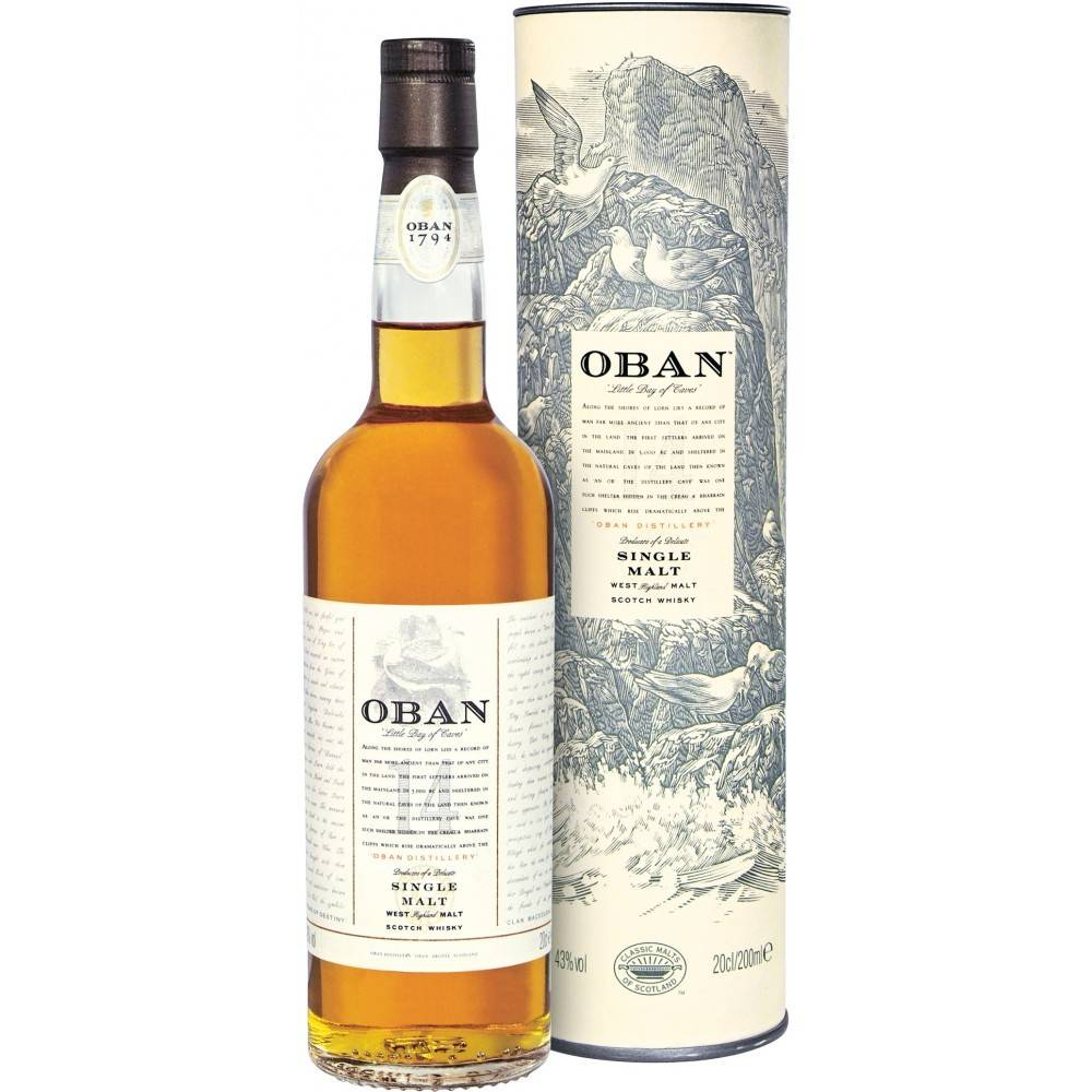 Oban 14 Year Single Malt Scotch Whisky ABV: 43%  750 mL