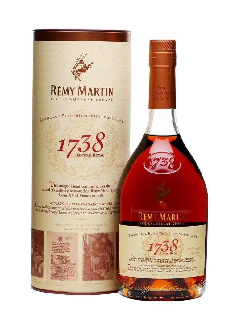 Remy Martin 1738 Proof: 80  750 Ml