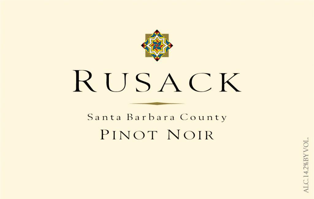 Rusack Pinot Noir 2016 ABV: 14.2%  750 mL