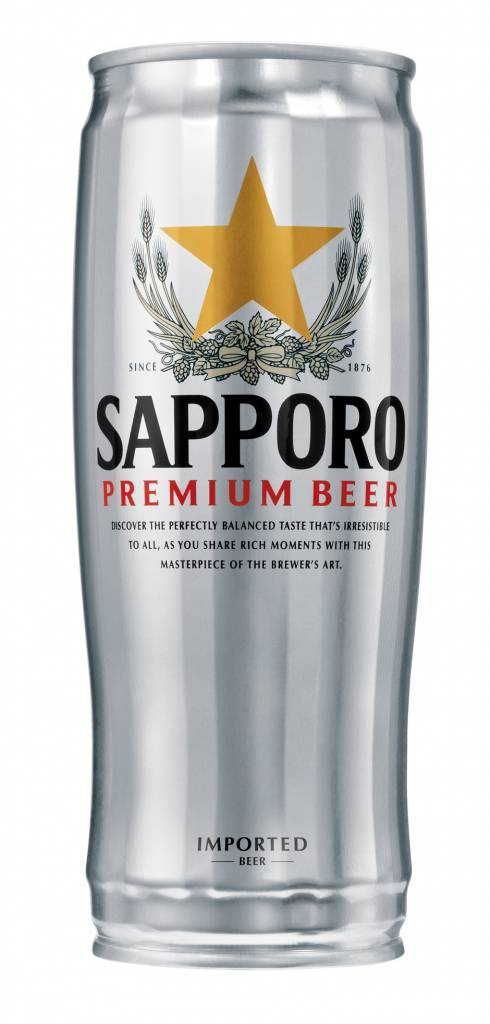 Sapporo Premium Can ABV: 4.9%  6 Pack