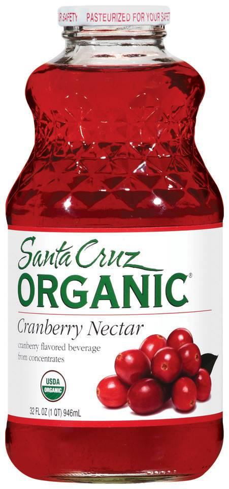 Santa Cruz  Organic Cranberry Nectar 32  Fl OZ