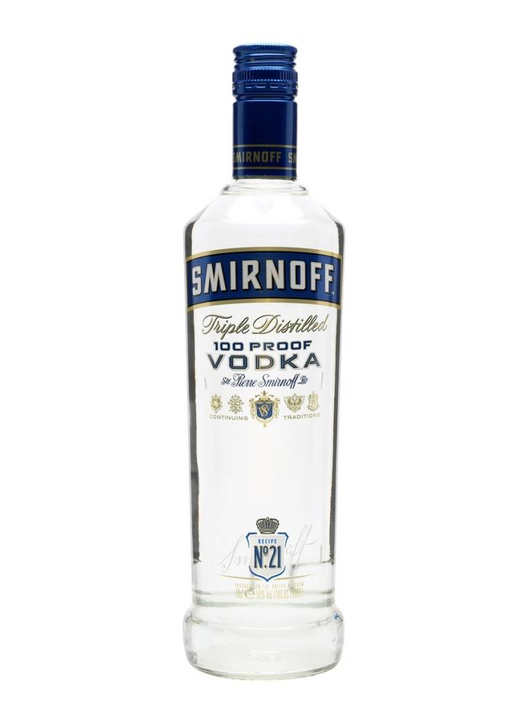 Smirnoff Blue Vodka Proof: 100  50 ML