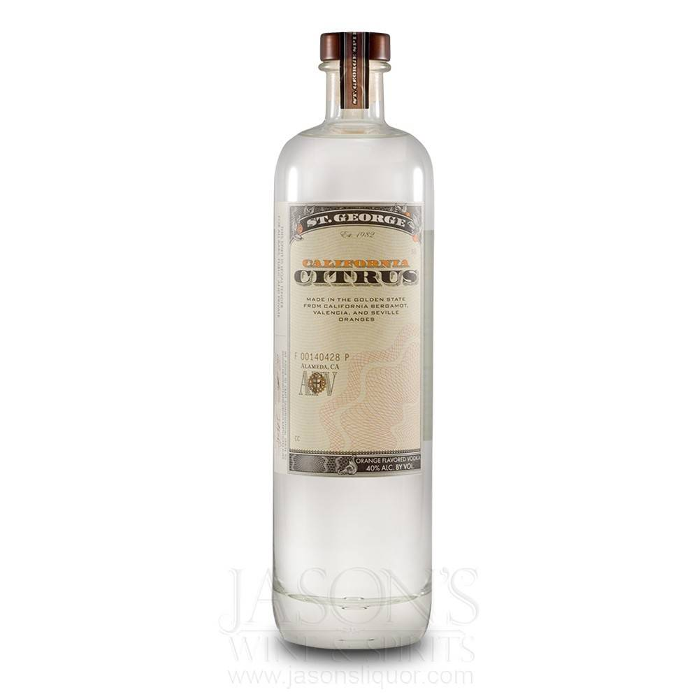 St George Citrus Vodka Proof: 80  750 Ml