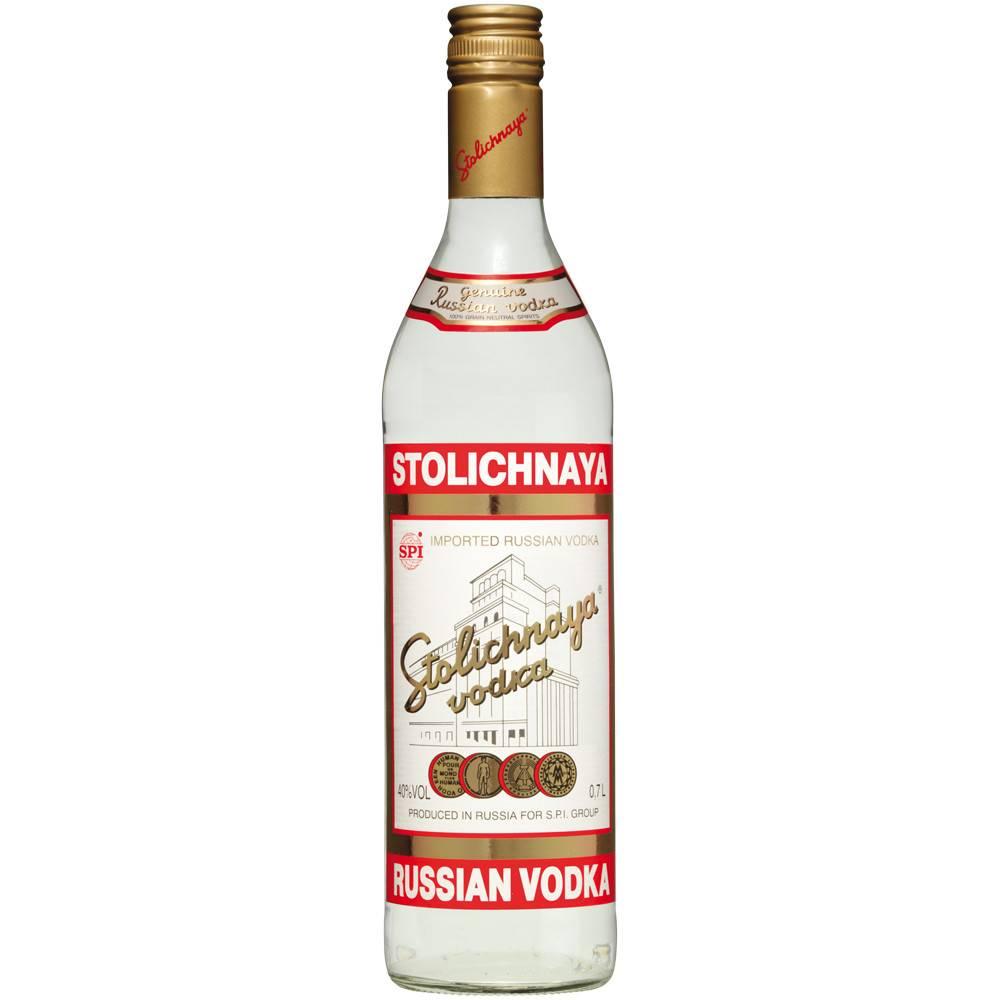 Stolichnaya Vodka Proof: 80  375 mL