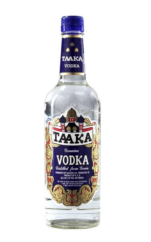 Taaka Vodka Proof: 80  750 mL