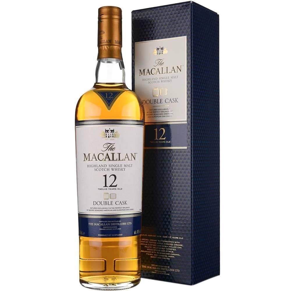 The Macallan Highland 12 Year Old Single Malt Scotch Whisky ABV: 87  750 Ml