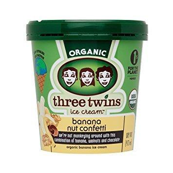 Three Twins Organic Banana Nut Confetti Ice Cream 1 pt