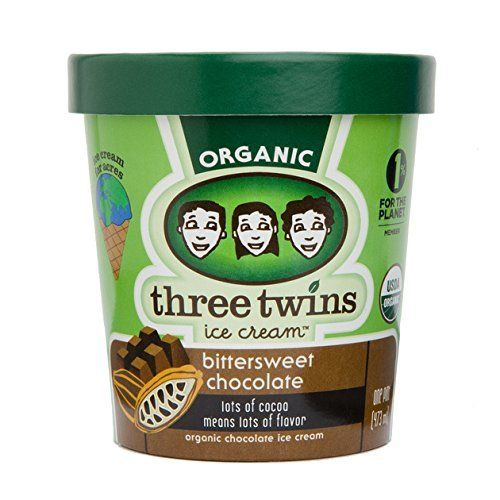 Three Twins Organic Bittersweet Chocolate Ice Cream 1 pt