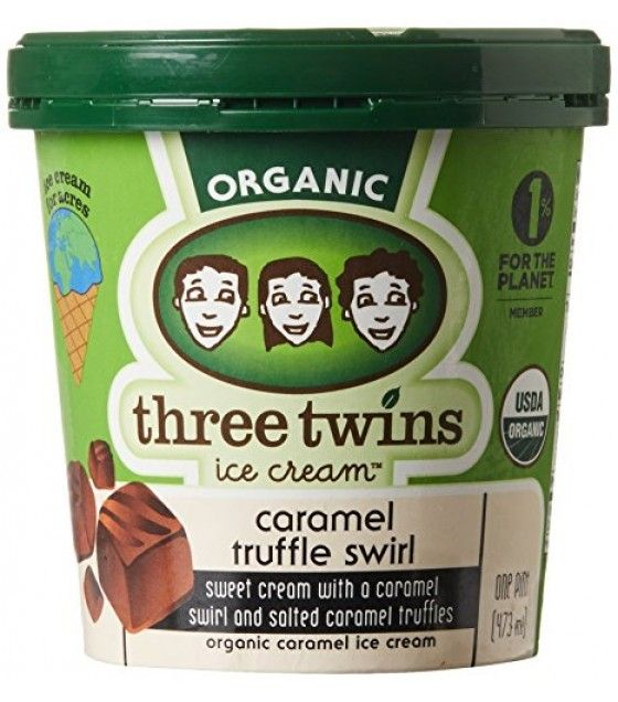 Three Twins Organic Caramel Truffle Swirl Ice Cream 1 pt
