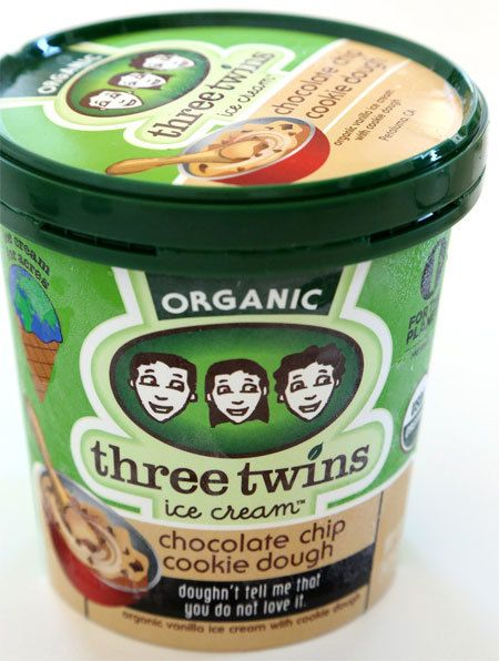 Three Twins Organic Chocolate Chip Cookie Dough Ice Cream 1 pt