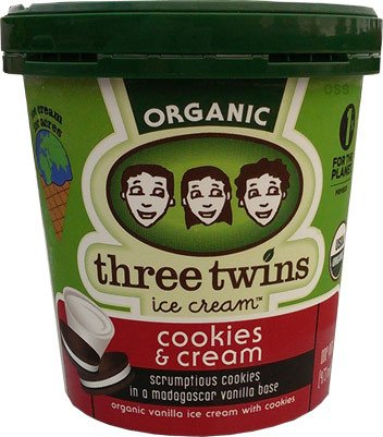 Three Twins Organic Cookies & Cream Ice Cream 1 pt