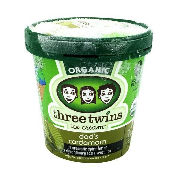 Three Twins Organic Dad's Cardamom Ice Cream 1 pt