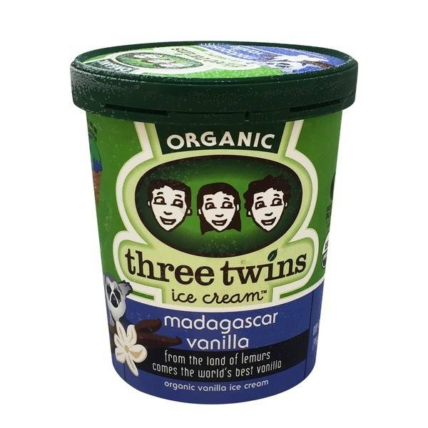 Three Twins Organic Madagascar Vanilla Ice Cream 1 pt