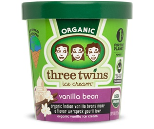 Three Twins Organic Vanilla Bean Ice Cream 1 pt