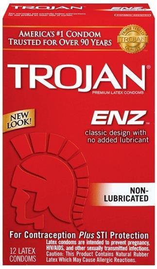 Trojan Enz Non Lubricated 3 Latex Condoms