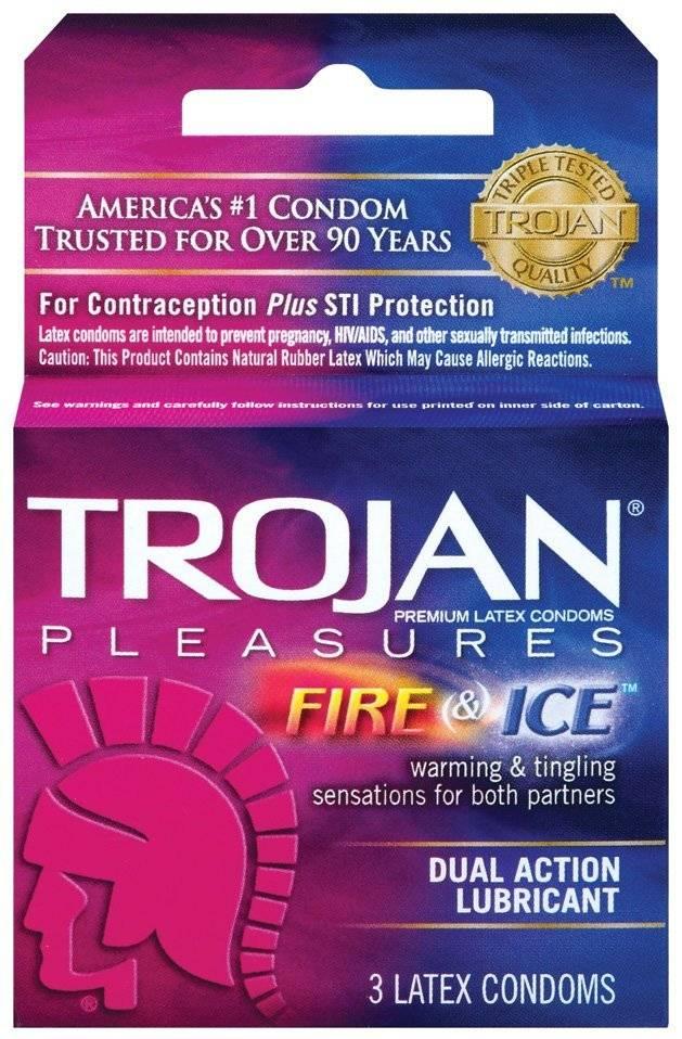 Trojan Fire & Ice 3 Latex Condoms