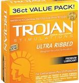 Trojan Ultra Ribbed  3 Latex Condoms