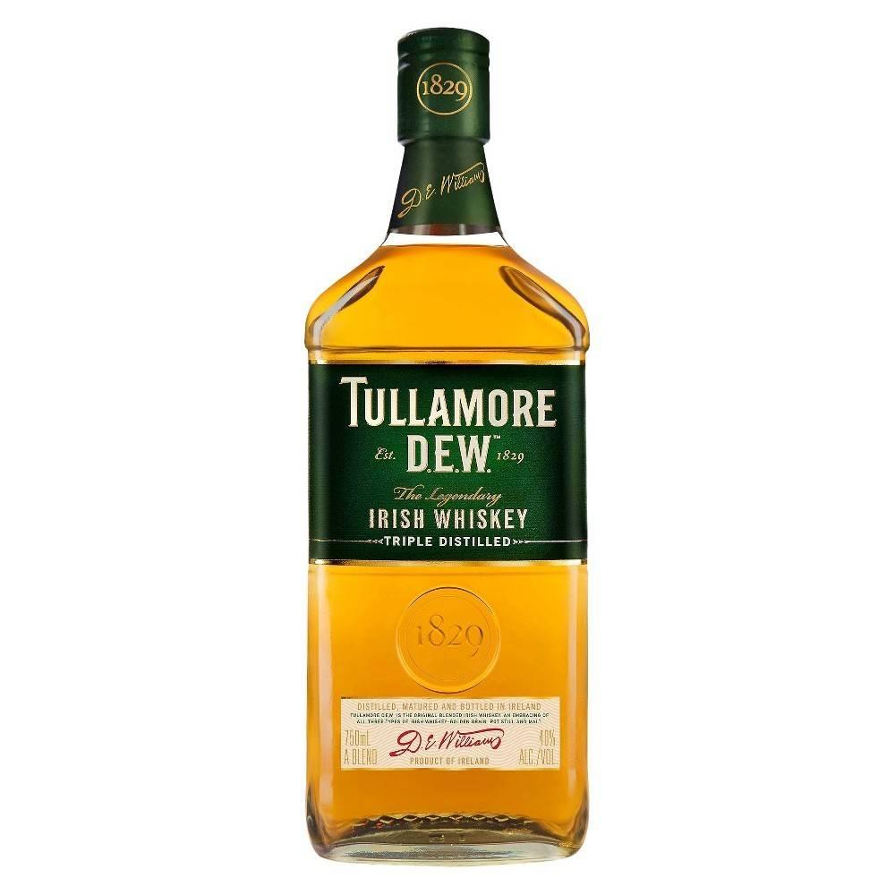 Tullamore Dew Irish Whiskey Proof: 80  750 mL