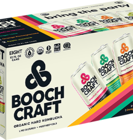 Booch Craft Kombucha Variety Pack  ABV 7% 8 Pack