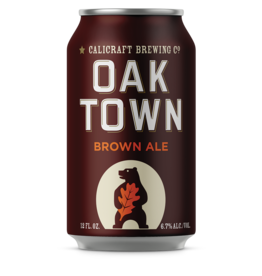 Calicraft Brewing Co. Oaktown Brown ABV: 7%  4 Pack 16 Fl OZ Can