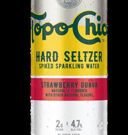 Topo Chico Hard Seltzer Strawberry Guava   ABV 4.7% 24 Fl OZ