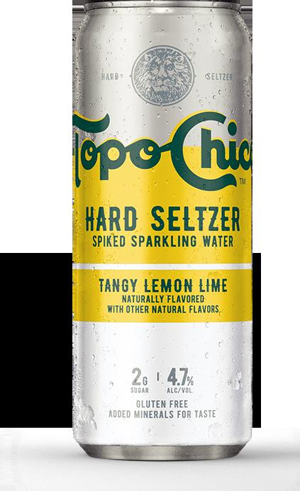 Topo Chico Hard Seltzer Tangy Lemon Lime  ABV 4.7% 24 Fl OZ
