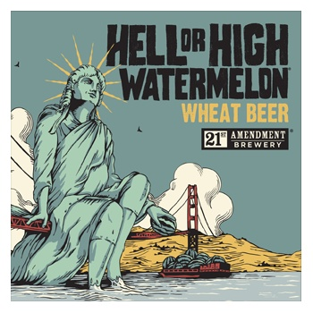 21st Amendment Hell or High Watermelon ABV 4.9% 15 Packs