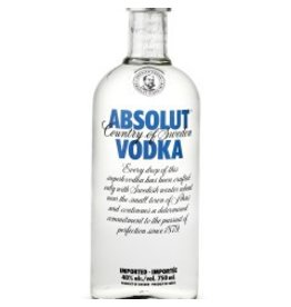 Absolut Vodka ABV: 40 % 750 mL