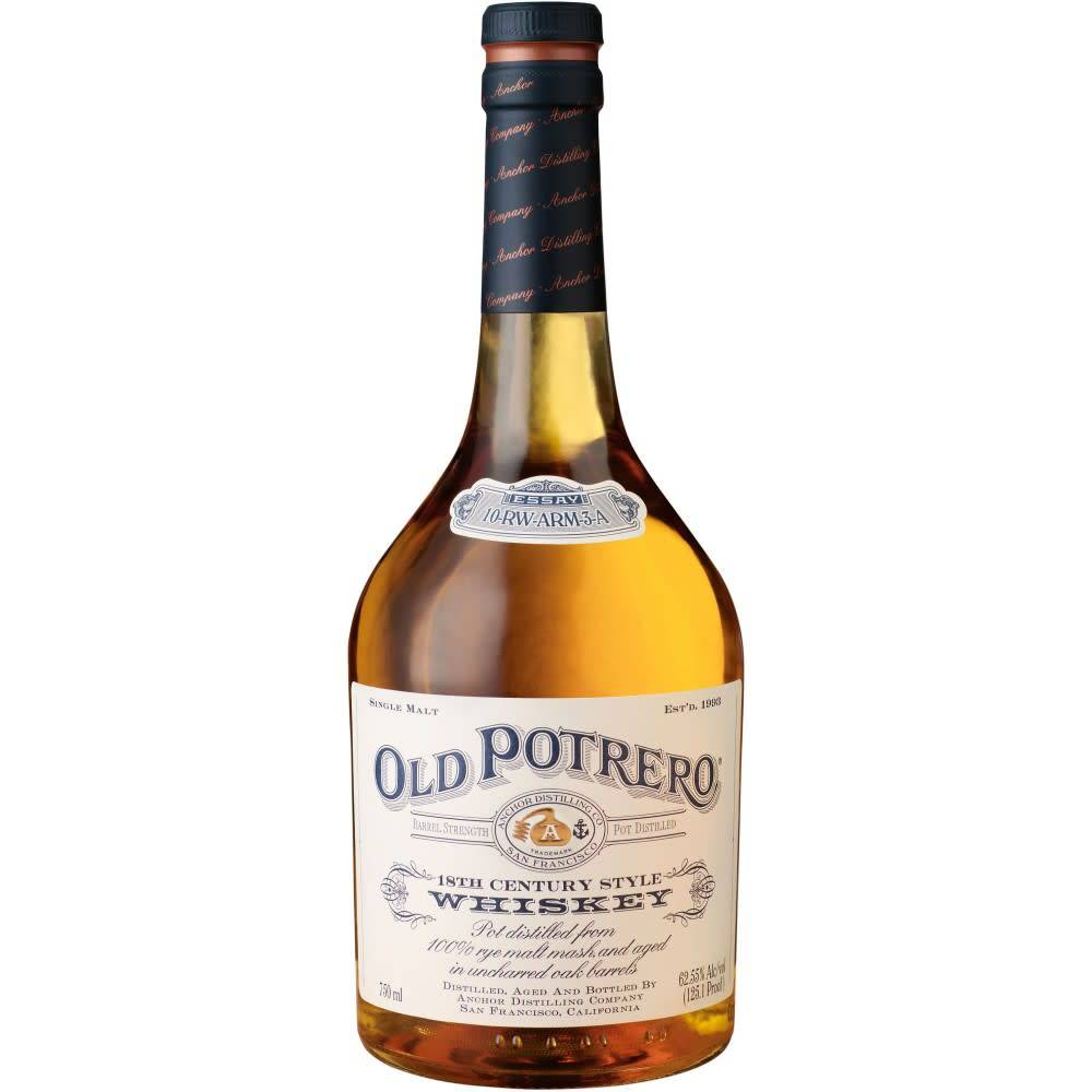 Old Potrero 18th Century Whiskey  ABV 51.2% 750 ML