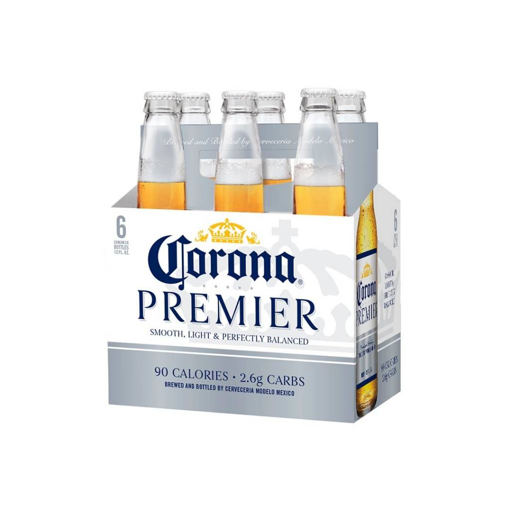 Corona Premier 90 calories ABV 4% 6 Packs Bottle