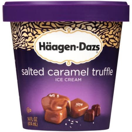 Haagen-Dazs Sea Salt Caramel Truffle Ice Cream 1 pt
