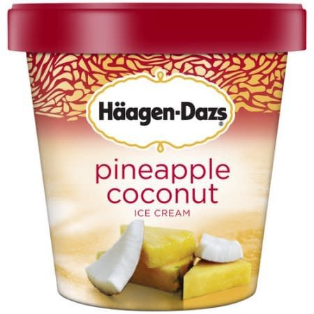 Haagen Dazs Pineapple Coconut Ice Cream 14 oz