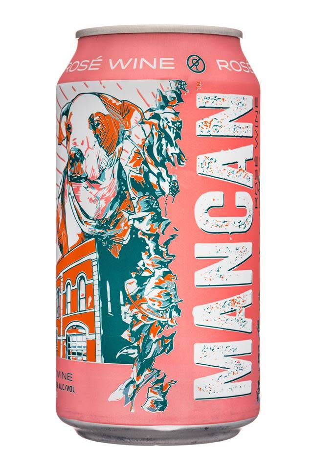 Man Can Rose Wine ABV: 12.5%  4 Pack