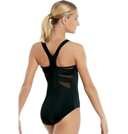 Balera V-Neck Leotard w/Mesh